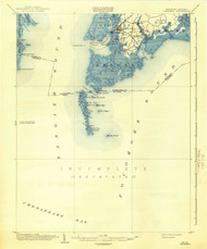 Crisfield, Maryland 1903 (1942) USGS Old Topo Map 15x15 Quad