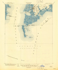 Crisfield, Maryland 1903 (1945) USGS Old Topo Map 15x15 Quad