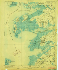 Deal Island, Maryland 1903 (1903) USGS Old Topo Map 15x15 Quad