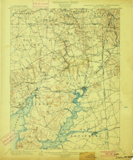 Elkton, Maryland 1900 (1900) USGS Old Topo Map 15x15 Quad