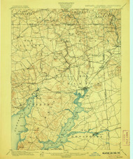 Elkton, Maryland 1900 (1906) USGS Old Topo Map 15x15 Quad