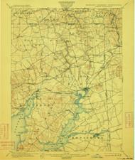 Elkton, Maryland 1900 (1912) USGS Old Topo Map 15x15 Quad