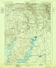 Elkton, Maryland 1900 (1932) USGS Old Topo Map 15x15 Quad