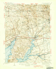 Elkton, Maryland 1942 (1942a) USGS Old Topo Map 15x15 Quad