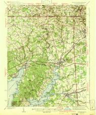 Elkton, Maryland 1942 (1942b) USGS Old Topo Map 15x15 Quad
