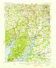 Elkton, Maryland 1942 (1942c) USGS Old Topo Map 15x15 Quad