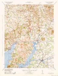 Elkton, Maryland 1942 (1942d) USGS Old Topo Map 15x15 Quad