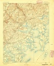 Gunpowder, Maryland 1893 (1893a) USGS Old Topo Map 15x15 Quad