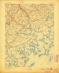 Gunpowder, Maryland 1893 (1893b) USGS Old Topo Map 15x15 Quad