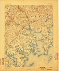 Gunpowder, Maryland 1893 (1898) USGS Old Topo Map 15x15 Quad