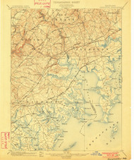 Gunpowder, Maryland 1901 (1901) USGS Old Topo Map 15x15 Quad