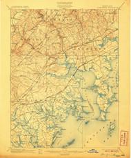 Gunpowder, Maryland 1901 (1907) USGS Old Topo Map 15x15 Quad