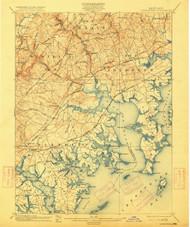 Gunpowder, Maryland 1901 (1915) USGS Old Topo Map 15x15 Quad