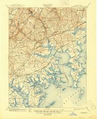 Gunpowder, Maryland 1901 (1945) USGS Old Topo Map 15x15 Quad