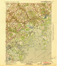 Gunpowder, Maryland 1941 (1941) USGS Old Topo Map 15x15 Quad