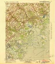Gunpowder, Maryland 1941 (1941) USGS Old Topo Map 15x15 Quad