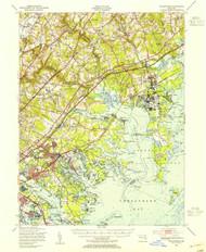 Gunpowder, Maryland 1949 (1955a) USGS Old Topo Map 15x15 Quad