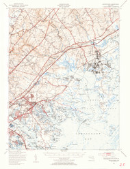 Gunpowder, Maryland 1949 (1955b) USGS Old Topo Map 15x15 Quad