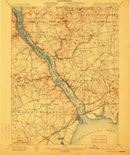 Havre De Grace, Maryland 1900 (1912) USGS Old Topo Map 15x15 Quad