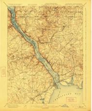 Havre De Grace, Maryland 1900 (1923) USGS Old Topo Map 15x15 Quad