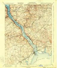 Havre De Grace, Maryland 1900 (1931) USGS Old Topo Map 15x15 Quad