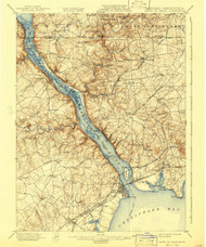 Havre De Grace, Maryland 1900 (1941) USGS Old Topo Map 15x15 Quad