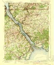 Havre De Grace, Maryland 1942 (1942a) USGS Old Topo Map 15x15 Quad