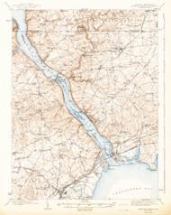 Havre De Grace, Maryland 1942 (1942b) USGS Old Topo Map 15x15 Quad