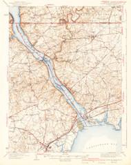 Havre De Grace, Maryland 1942 (1942c) USGS Old Topo Map 15x15 Quad