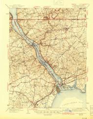Havre De Grace, Maryland 1942 (1945) USGS Old Topo Map 15x15 Quad