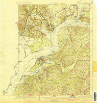 Indian Hill, Maryland 1925 (1925a) USGS Old Topo Map 15x15 Quad