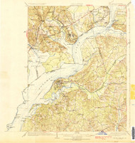 Indian Hill, Maryland 1925 (1925c) USGS Old Topo Map 15x15 Quad