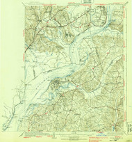 Indian Hill, Maryland 1925 (1939) USGS Old Topo Map 15x15 Quad