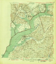 Indian Hill, Maryland 1925 (1945) USGS Old Topo Map 15x15 Quad