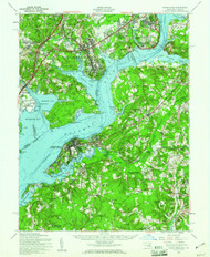 Indian Hill, Maryland 1956 (1961) USGS Old Topo Map 15x15 Quad