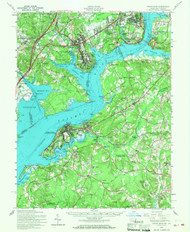 Indian Hill, Maryland 1956 (1968) USGS Old Topo Map 15x15 Quad