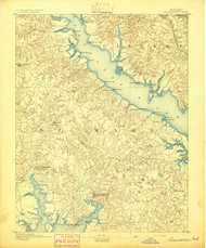 Leonardtown, Maryland 1892 (1892) USGS Old Topo Map 15x15 Quad