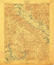 Leonardtown, Maryland 1901 (1913) USGS Old Topo Map 15x15 Quad