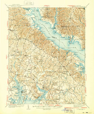 Leonardtown, Maryland 1939 (1939a) USGS Old Topo Map 15x15 Quad