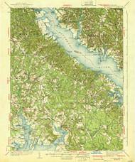 Leonardtown, Maryland 1939 (1939b) USGS Old Topo Map 15x15 Quad