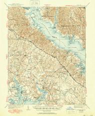 Leonardtown, Maryland 1939 (1951) USGS Old Topo Map 15x15 Quad