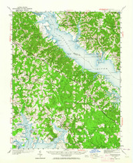 Leonardtown, Maryland 1950 (1964) USGS Old Topo Map 15x15 Quad