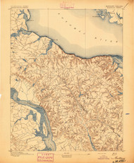 Montross, Maryland 1895 (1895) USGS Old Topo Map 15x15 Quad