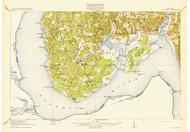 Nanjemoy, Maryland 1913 (1913b) USGS Old Topo Map 15x15 Quad