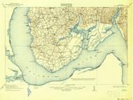 Nanjemoy, Maryland 1913 (1942) USGS Old Topo Map 15x15 Quad