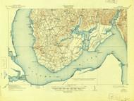 Nanjemoy, Maryland 1913 (1945) USGS Old Topo Map 15x15 Quad