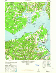 Nanjemoy, Maryland 1948 (1948b) USGS Old Topo Map 15x15 Quad