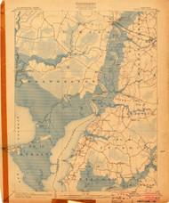Nanitcoke, Maryland 1903 (1903a) USGS Old Topo Map 15x15 Quad