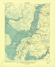 Nanitcoke, Maryland 1903 (1945) USGS Old Topo Map 15x15 Quad