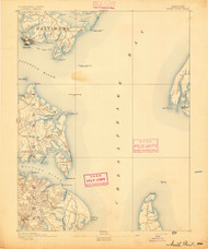 North Point, Maryland 1893 (1893) USGS Old Topo Map 15x15 Quad